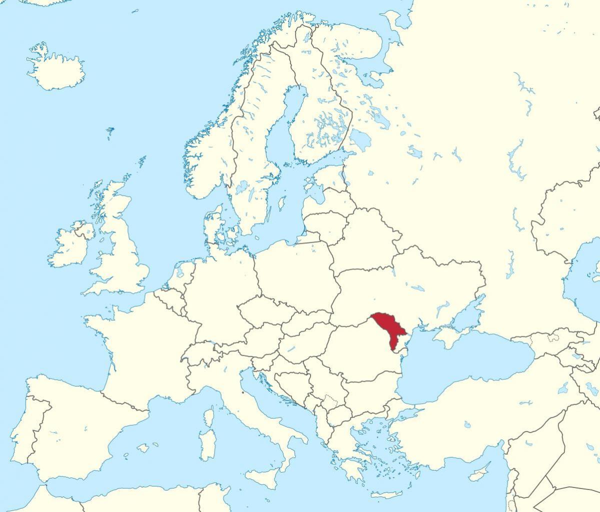Moldavie Kaart Europa Kaart Van Moldavie Europa Oost Europa